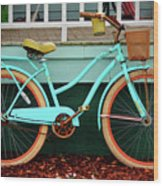 Beach Cruiser Bike Wood Print