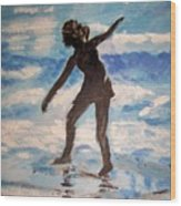 Beach Dancer Wood Print