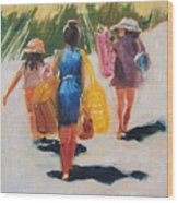 Beach Day Wood Print