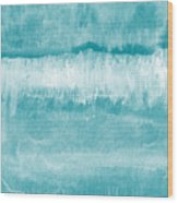 Beach Day Blue- Art By Linda Woods Wood Print