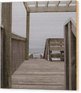 Beach Deck Wood Print