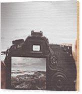 Beach Digital Photography Wood Print