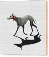 Beach Dog Wood Print