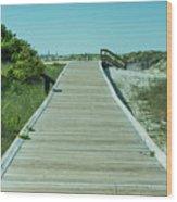 Beach Entrance Wood Print