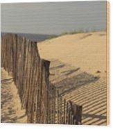 Beach Fence, Cape Cod Wood Print