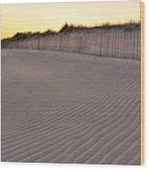 Beach Fence Robert Moses State Park Wood Print