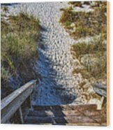 Beach Footprints - Boca Grande Florida Wood Print
