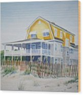 Beach Front At Wrightsville Beach Wood Print