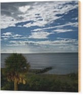 Beach Front Property Wood Print