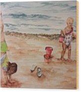 Beach Fun. 1 Wood Print