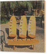 Beach Furniture Wood Print