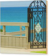 Beach Gate Wood Print