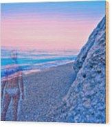 Beach Ghost Wood Print