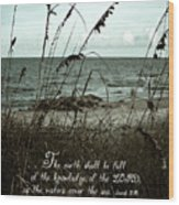 Beach Grass Oats Isaiah 11 Wood Print