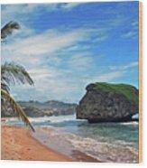 Beach Hideaway Wood Print