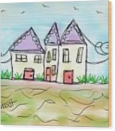 Beach Homes Wood Print