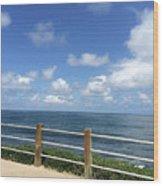 Beach Horizon Wood Print