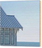 Beach House Blues Wood Print