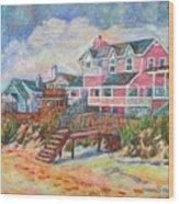 Beach Houses At Pawleys Island Wood Print