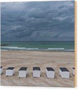 Beach Houses On North Sea Wood Print