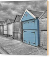 Beach Hut In Isolation Wood Print