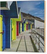 Beach Huts At Barry Island Wood Print