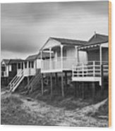 Beach Huts North Norfolk Uk Wood Print