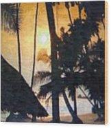 Beach In Accra Wood Print