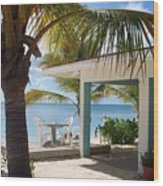 Beach In Grand Turk Wood Print