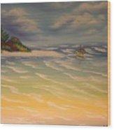 Beach Island Wood Print