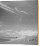 Beach Wood Print by John Gusky