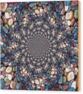 Beach Kaleidoscope Wood Print