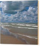 Beach Kincardine Wood Print