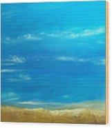 Beach Wood Print by KR Moehr