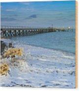 Beach La Tranche Sur Mer Wood Print