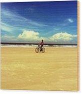 Beach Life On Daytona Beach Wood Print