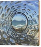 Beach Life Through The Looking Glass Wood Print