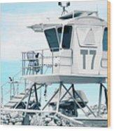 Beach Lifeguard Tower Wood Print