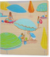 Beach Living Wood Print