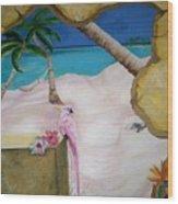Beach Mural Wood Print