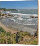 Beach Near Cape Foulwind Wood Print
