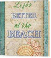 Beach Notes-jp3761 Wood Print