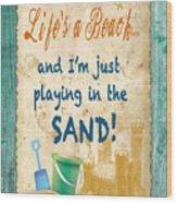 Beach Notes-jp3762 Wood Print