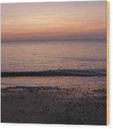 Beach Ocean Waves At Dawn 1 Wood Print