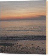 Beach Ocean Waves At Dawn 4 Wood Print