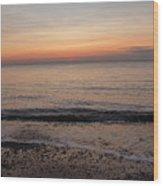Beach Ocean Waves At Dawn 5 Wood Print