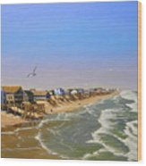Beach Of The Outer Banks Of N.c. Wood Print