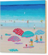 Beach Painting - A Golden Day Wood Print