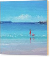 Beach Painting - A Sea Breeze Wood Print
