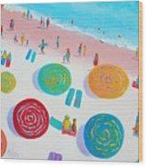 Beach Painting - A Walk In The Sun Wood Print